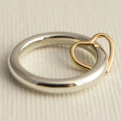 Silver Spinner Ring - Worry Ring - Fidget Ring - Heart Charm