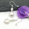 Sterling Silver Pearl Earrings, Gift For Her,