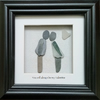 Valentine's Day Pebble & Sea Glass picture 'You'll Alaways be my Valentine'
