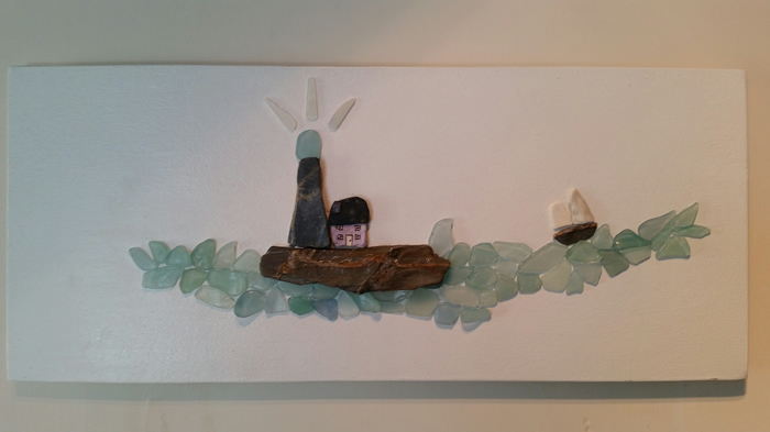 Cornish Art from Sea Glass & Stone