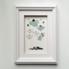 Sea Glass Flowers, Unusual Gifts for Women, Framed Wall Art, Made in Cornwall