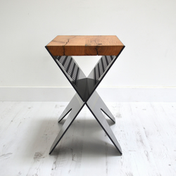 JAM CROSS RANGE – RECLAIMED OAK SIDE TABLE