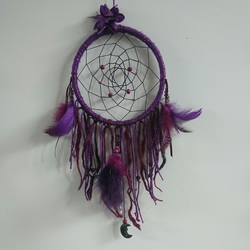 Purple Sparkle Amethyst Moon Dream Catcher