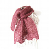 Dusky pink mohair lace scarf, half price