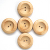 Large wood buttons set of 5