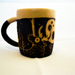 Deer and Fox Coffee Can