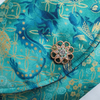 Turquoise Dragon Clutch Bag