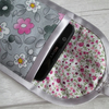 Pink, Grey and White Floral Glasses or Phone Case