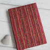 A6 Pink, Brown and Red Stripe Reusable Notebook Cover
