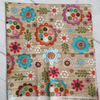 SALE - Fat Quarter - Woodland Critters Floral on Wood Effect Background
