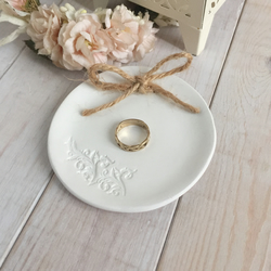 Personalised clay ring dish