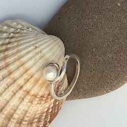 Seawater Pearl and Sterling Silver Ring