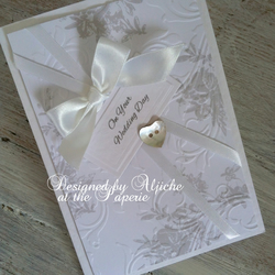 Handmade Wedding Card, Wedding Day, Engagement, Anniversary, Personalized