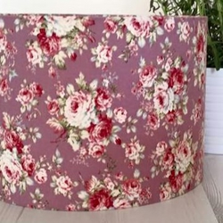 Vintage floral lampshade purple lilac mauve folksy vintage floral lampshade purple lilac mauve lampshade shabby home decor aloadofball Image collections