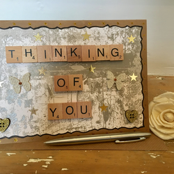 Bespoke Letterart handmade 'thinking of you' cards