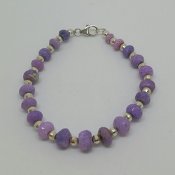 Purple Opal and sterling Silver Bracelet
