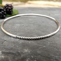 Silver Berry Bangle