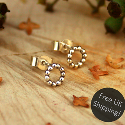 Silver Berry Stud Earrings