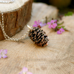 Chunky Copper Pinecone Necklace