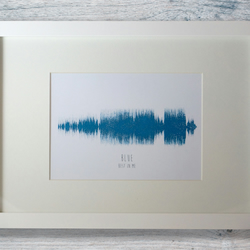 It's Our Song - personalised sound wave print