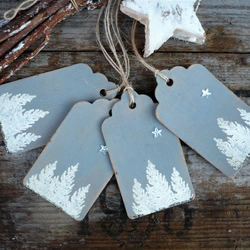 Embossed gift tags for christmas