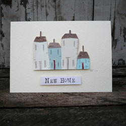 Hand painted card for new home