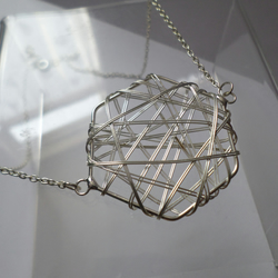 Handmade Wired Hexagon Necklace