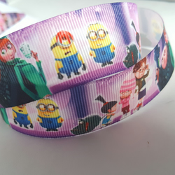 1m Character Ribbon - Printed Grosgrain - 25mm - Minion