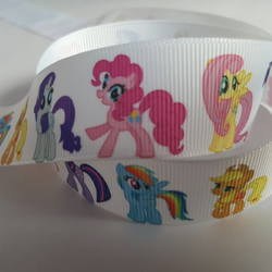1m Character Ribbon - Printed Grosgrain - 25mm - Pony