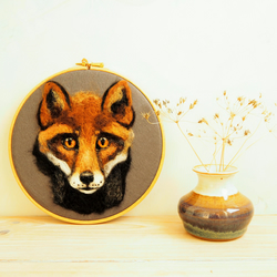 Needle Felted Fox Face