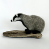 Small Needle Felted Badger