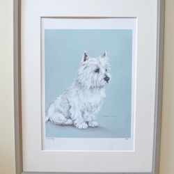 Signed Whiskey Westie Giclee Print