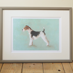 Signed Fox Terrier Giclee Print