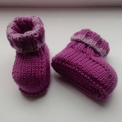 Hand Knit Baby Booties in Sublime Cashmere Merino Silk Yarn