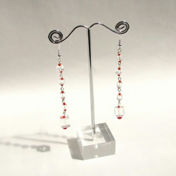 Red Ice Cube Earrings