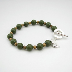 Green and Picture Jasper bracelet