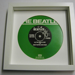 "The Beatles - ""All You Need Is Love, Baby You A Rich Man"" Framed Record Sleeve"