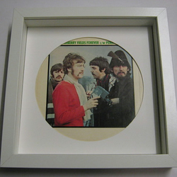 "The Beatles - ""Strawberry Fields Forever, Penny Lane"" Framed Record Sleeve"