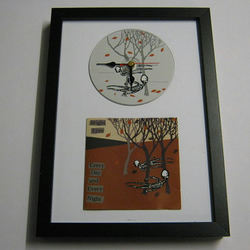 "Bright Eyes - ""Every Day and Every Night"" Framed CD Wall Clock"