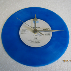 "Eve's Plum - ""Blue"" 7"" Vinyl Record Wall Clock"