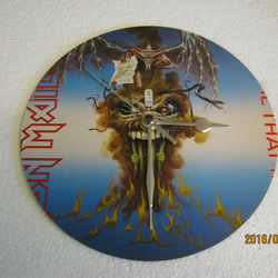 "Iron Maiden - ""The Evil That Men Do"" 7"" Vinyl Record Sleeve Wall Clock"