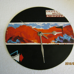 "Depeche Mode - ""Stripped"" 7"" Vinyl Record Sleeve Wall Clock"