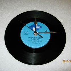 "Mamas Boys - ""Needle In The Groove"" 7"" Vinyl Record Wall Clock"
