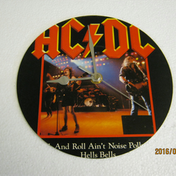 "AC DC - ""Rock And Roll Ain't Noise Pollution"" 7"" Vinyl Record Sleeve Wall Clock"