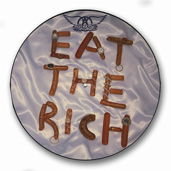 "Aerosmith - ""Eat The Rich"" Picture Disc Vinyl Record Wall Clock"