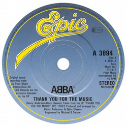 "ABBA - ""Thank You For The Music"" Vinyl Record Wall Clock"