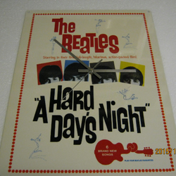 "The Beatles - ""A Hard Days Night"" Metal Enamel Wall Clock"