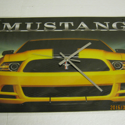 Ford Mustang (Unlearn Ford) Metal Enamel Wall Clock