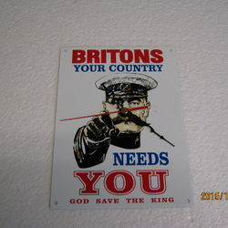 Britons - Your Country Needs You Metal Enamel Wall Clock