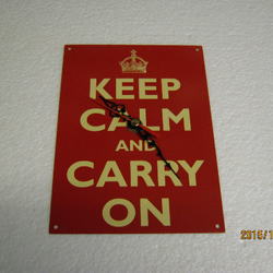 Keep Calm And Carry On Metal Enamel Wall Clock